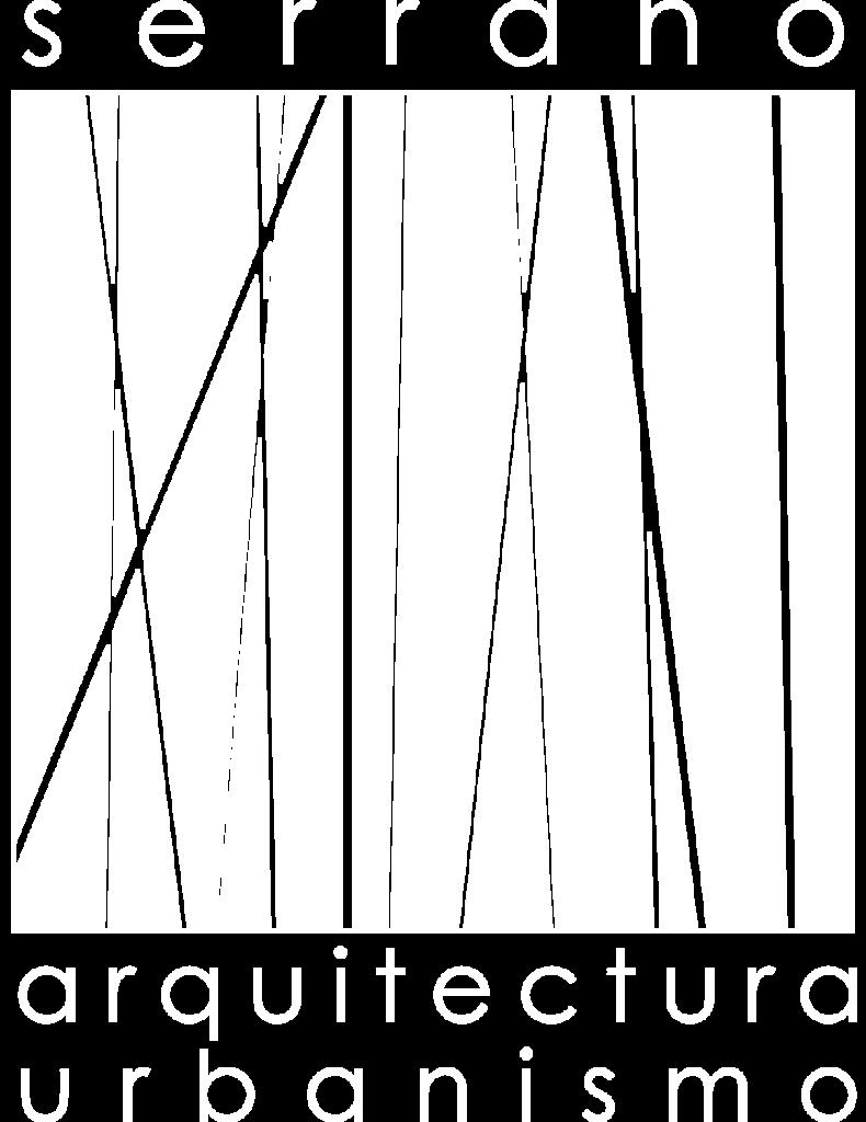 Logotipo Serrano Arquitectura y Urbanismo blanco